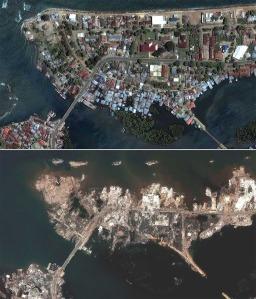 Aceh sebelum dan sesudah Tsunami